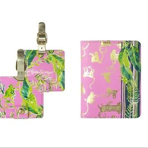NWT Lilly Pulitzer Luggage tag/Passport cover
